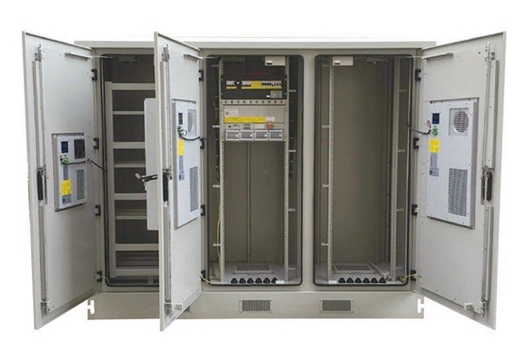 [:en]42RU 2100mm Wide x800mm Deep TRIPLE-Bay OUTDOOR Integrated Telecom Cabinet Battery Enclosure with AC3000W Air Conditioner IP55 Rated|Grey[:zh]铁塔机柜-通信塔机柜厂家[:]
